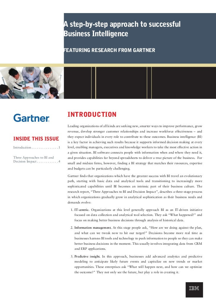A step-by-step approach to successful                                               Business Intelligence                 ...