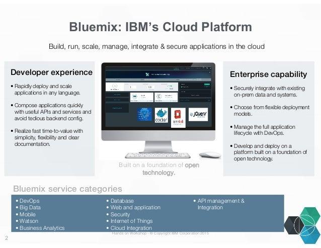 IBM Bluemix hands on Slide 2