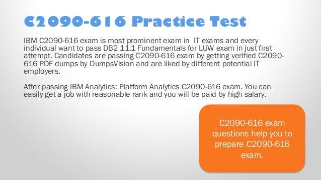 IBM DB2 11.1 Fundamentals for LUW C2090-616 Exam Q/&A PDF+SIM