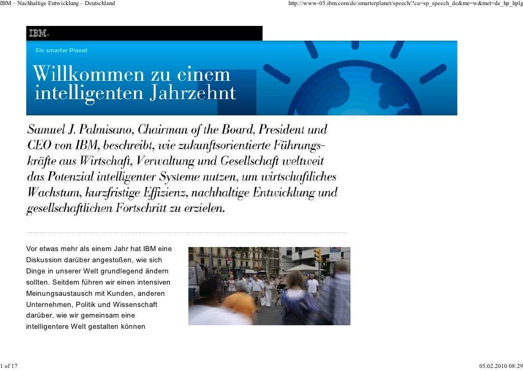 IBM – Nachhaltige Entwicklung – Deutschland              http://www-05.ibm.com/de/smarterplanet/speech/?ca=sp_speech_de&me...