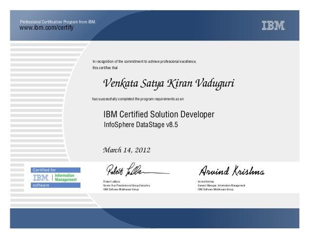 IBM Professional Certification Site - Exam List