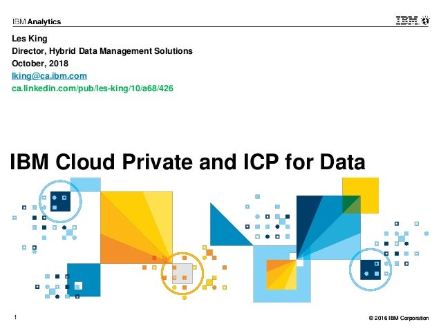 Ibm cloud private and icp for data