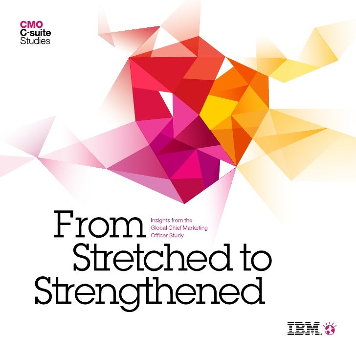 The illustration on the cover of this report representsthe more than 1,700 Chief Marketing Officers whospoke with IBM as pa...