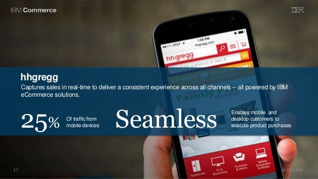 hhgregg Captures sales in real-time to deliver a consistent experience across all channels -- all powered by IBM eCommerce...