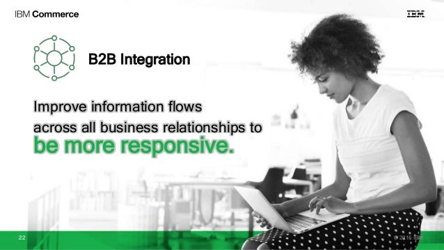 B2B Integration Improve information flows across all business relationships to be more responsive. © 2016 IBM22