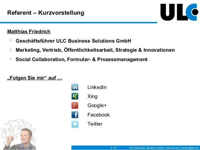 IBM Connectday_ULC-Vortrag_Formularmanagement Slide 2