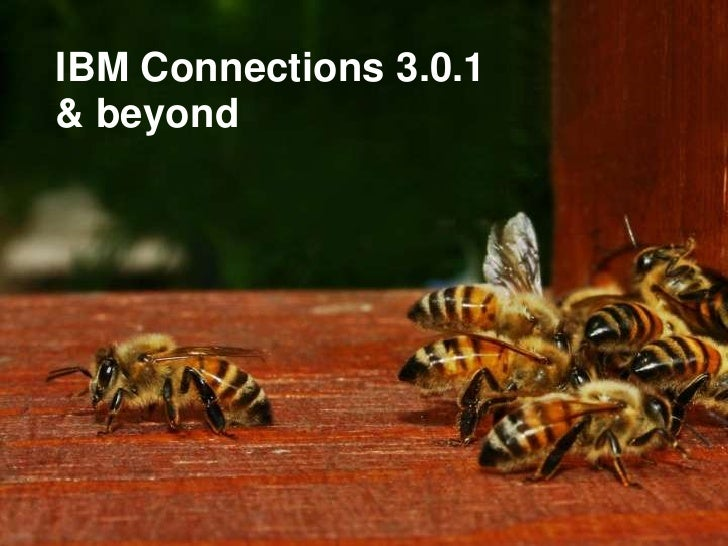 1    IBM Connections 3.0.1    & beyond
