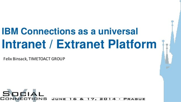 IBM Connections as a universal Intranet / Extranet Platform Felix Binsack, TIMETOACT GROUP
