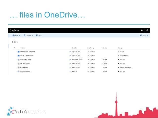 … files in OneDrive…
