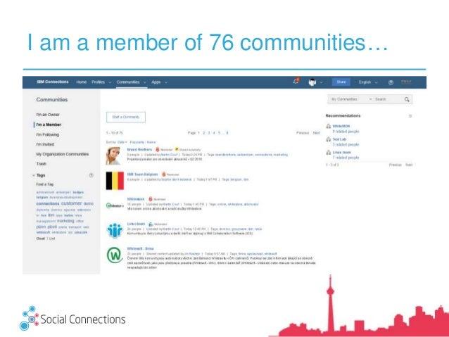 I am a member of 76 communities…
