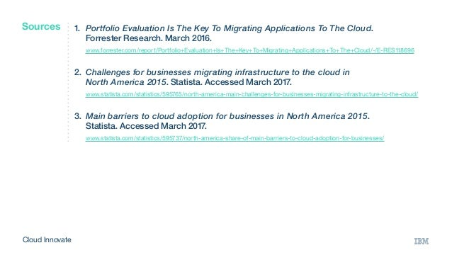 1. Portfolio Evaluation Is The Key To Migrating Applications To The Cloud.  Forrester Research. March 2016.  www.forres...
