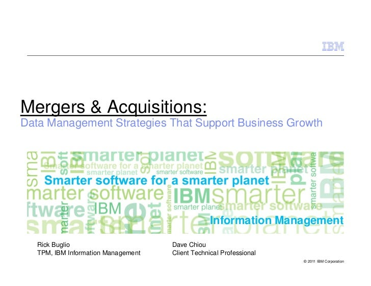 Mergers & Acquisitions:Data Management Strategies That Support Business Growth                                            ...