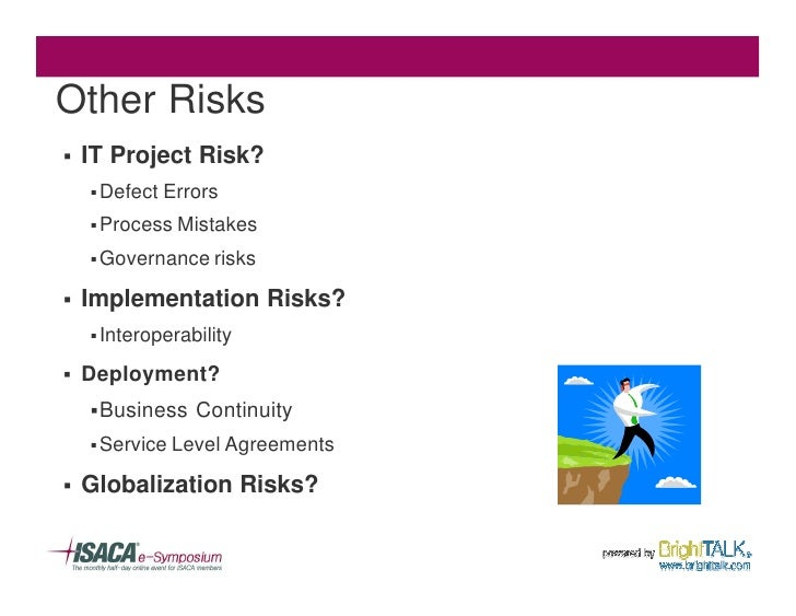 Other Risks §   IT Project Risk?     § Defect   Errors     § Process Mistakes      § Governance risks  §   Implementation ...