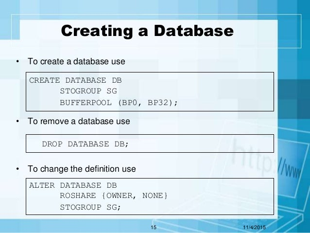 114201514 15 creating a database