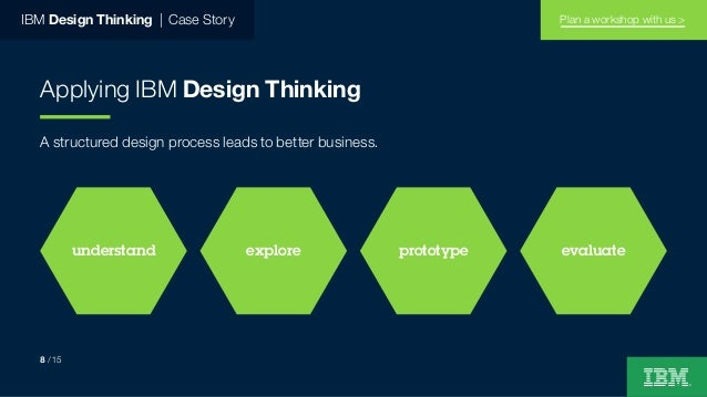 IBM Design Thinking   Case Story Applying IBM Design Thinking A structured design process leads to better business. unders...