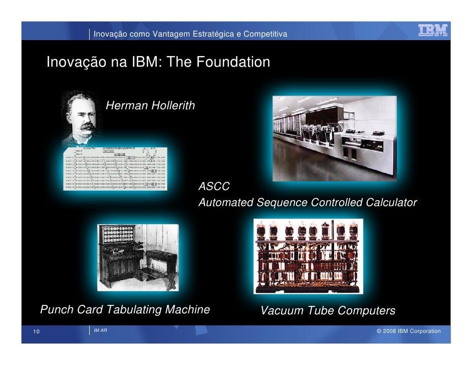Inovação como Vantagem Estratégica e Competitiva        Inovação na IBM: The Foundation                 Herman Hollerith  ...
