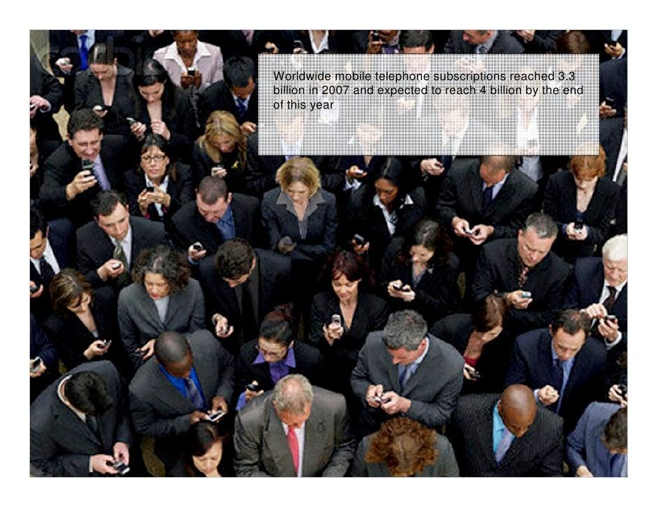 Inovação como Vantagem Estratégica e Competitiva                                Worldwide mobile telephone subscriptions r...