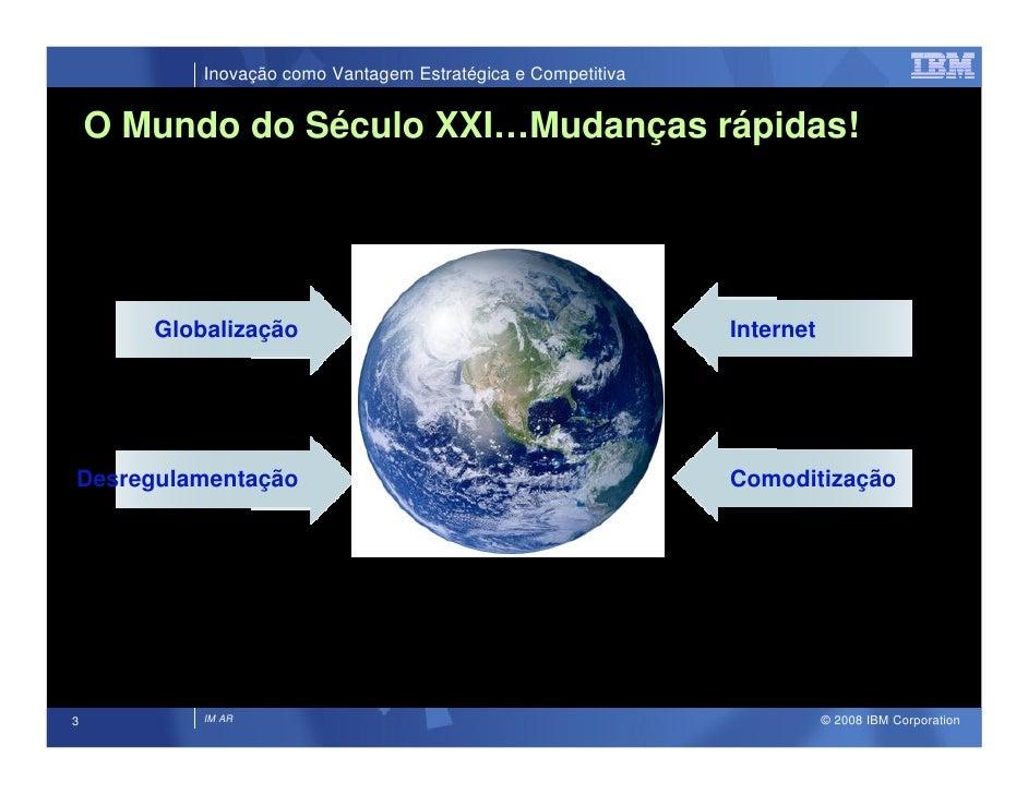 Inovação como Vantagem Estratégica e Competitiva       O Mundo do Século XXI…Mudanças rápidas!            Globalização    ...