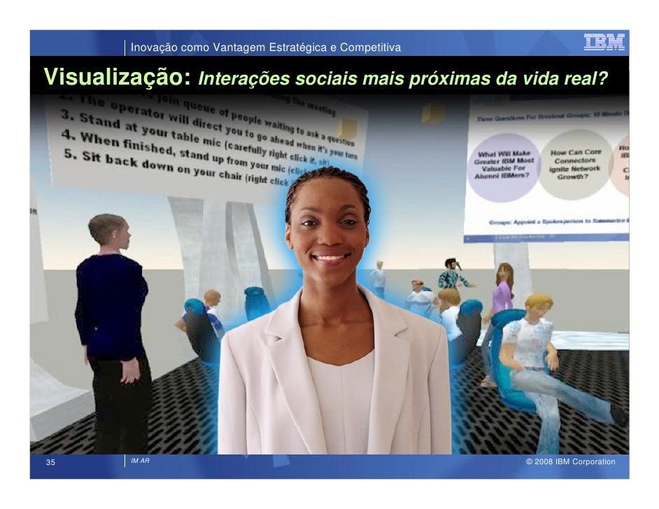 Inovação como Vantagem Estratégica e Competitiva  Visualização: Interações sociais mais próximas da vida real?            ...