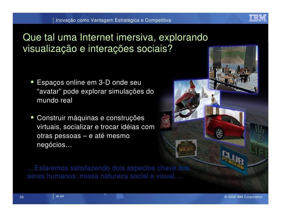 Inovação como Vantagem Estratégica e Competitiva    Que tal uma Internet imersiva, explorando  visualização e interações s...