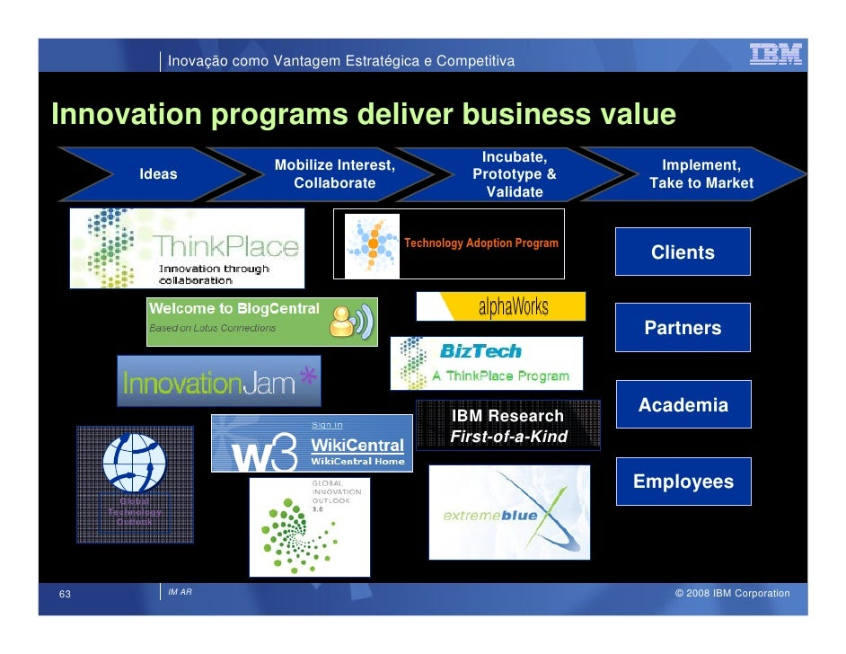 Inovação como Vantagem Estratégica e Competitiva   Innovation programs deliver business value                             ...