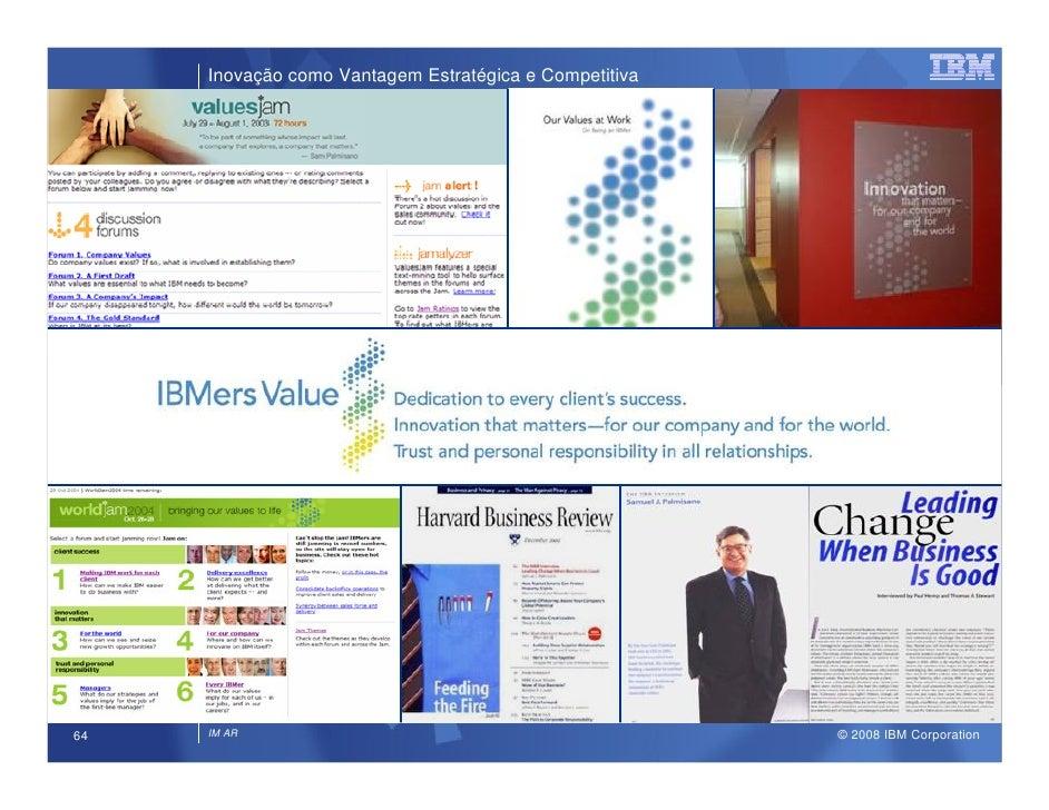 Inovação como Vantagem Estratégica e Competitiva                                                             © 2008 IBM Co...