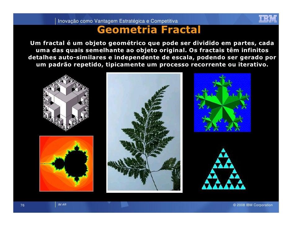 Inovação como Vantagem Estratégica e Competitiva                              Geometria Fractal      Um fractal é um objet...