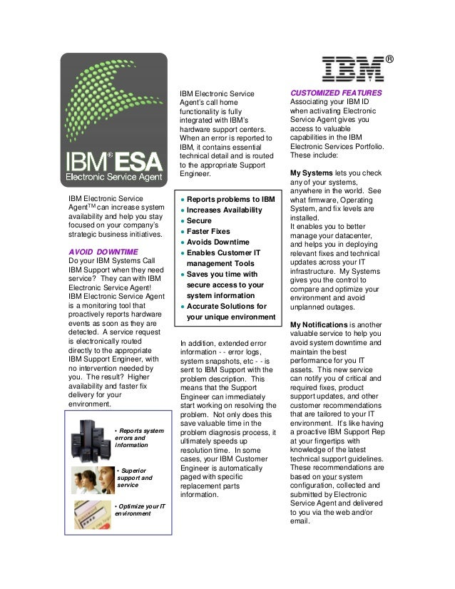 IBM Electronic Service Agent