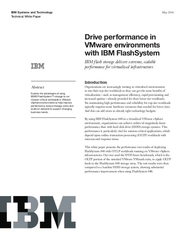 White paper: IBM FlashSystems in VMware Environments