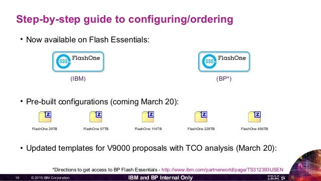© 2015 IBM Corporation19 IBM and BP Internal Only Step-by-step guide to configuring/ordering • Now available on Flash Esse...