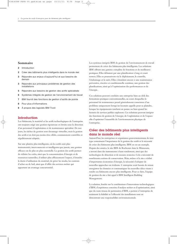 La gestion des actifs d'entreprise pour des bâtiments plus intelligents Slide 2