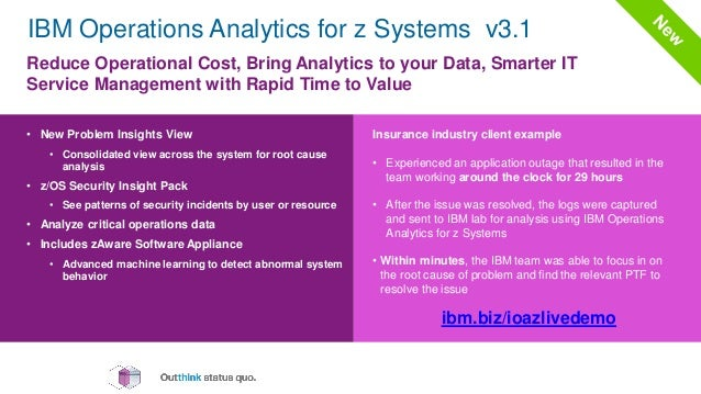 Ibm It Operations Analytics For Z Systems