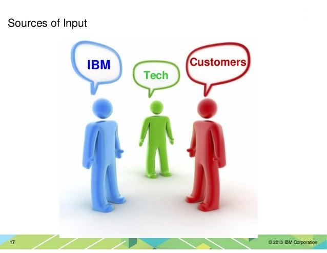 © 2013 IBM Corporation17 Sources of Input IBM Tech Customers