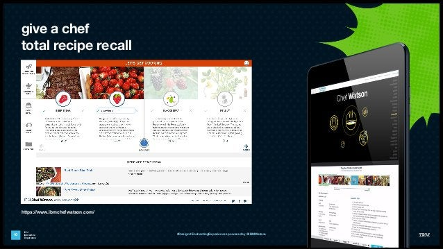 IBM Interactive Experience give a chef total recipe recall 10 #Design #EnchantingExperiences powered by @IBMWatson https:/...
