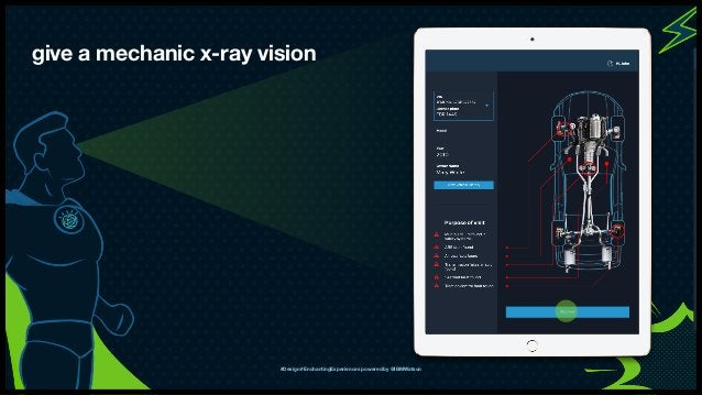 IBM Interactive Experience give a mechanic x-ray vision #Design #EnchantingExperiences powered by @IBMWatson