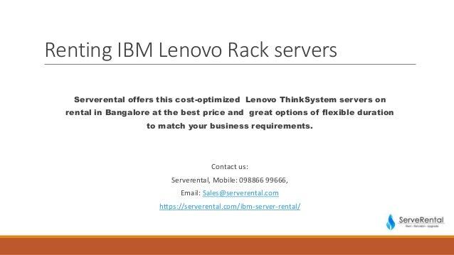 Ibm lenovo rack server rental