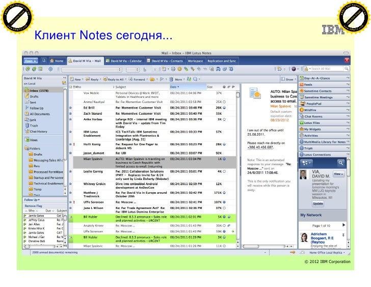 IBM Lotus Notes&Domino today Slide 3