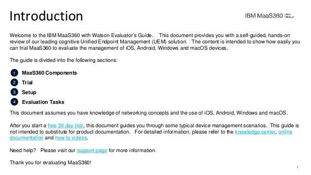 IBM MaaS360 evaluators guide