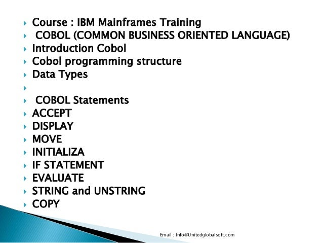 Mainframe basic training