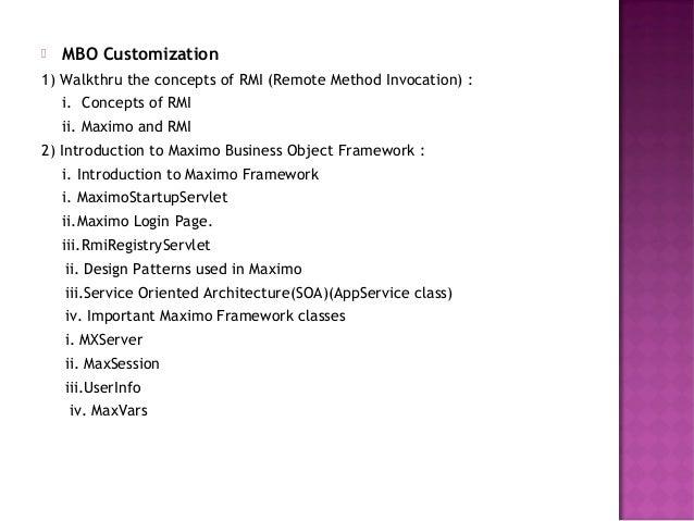 Mbo framework