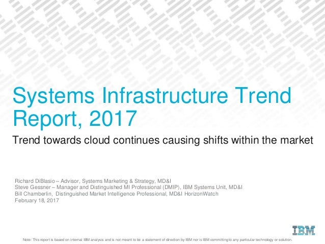 Note: This report is based on internal IBM analysis and is not meant to be a statement of direction by IBM nor is IBM comm...