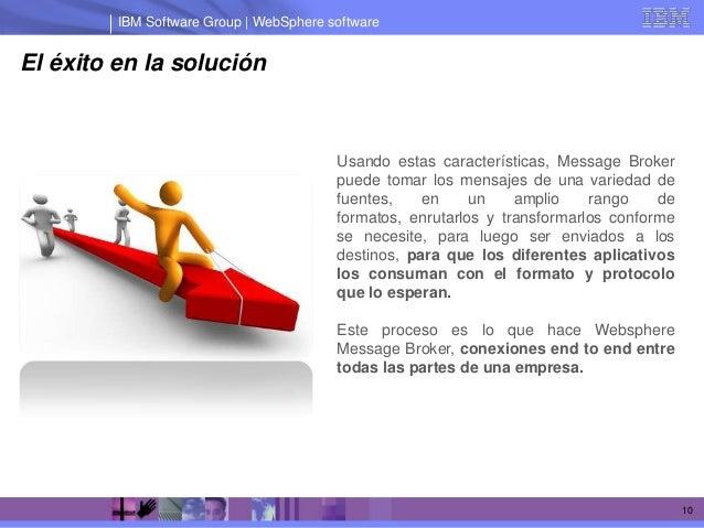IBM Software Group | WebSphere softwareEl éxito en la solución                                         Usando estas caract...