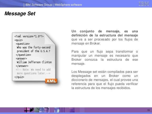 IBM Software Group | WebSphere softwareMessage Set                                      Un conjunto de mensaje, es una    ...