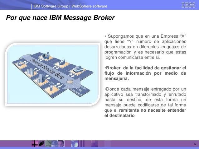 IBM Software Group | WebSphere softwarePor que nace IBM Message Broker                                            • Supong...