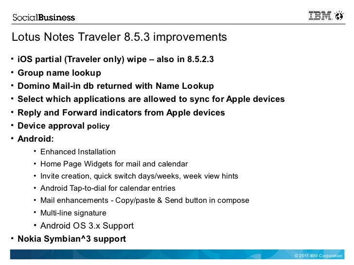 lotus notes traveler 8.5.035