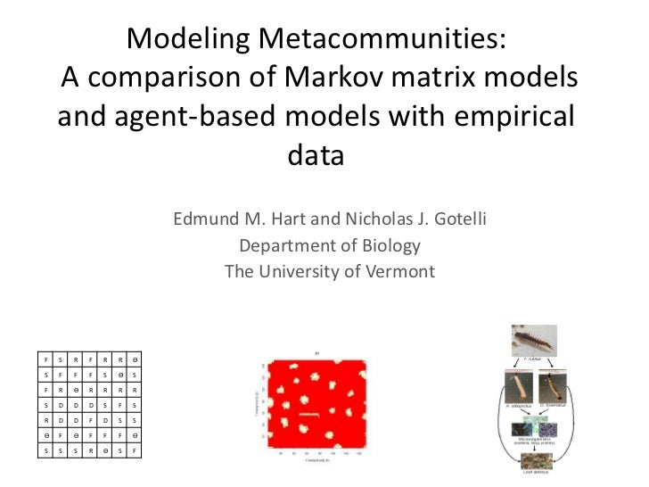 Modeling Metacommunities:    A comparison of Markov matrix models    and agent-based models with empirical                ...