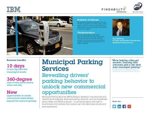Share this Rob Matthews, VP Sales and Business Development, Municipal Parking Services More Than Parking Municipal Parking...