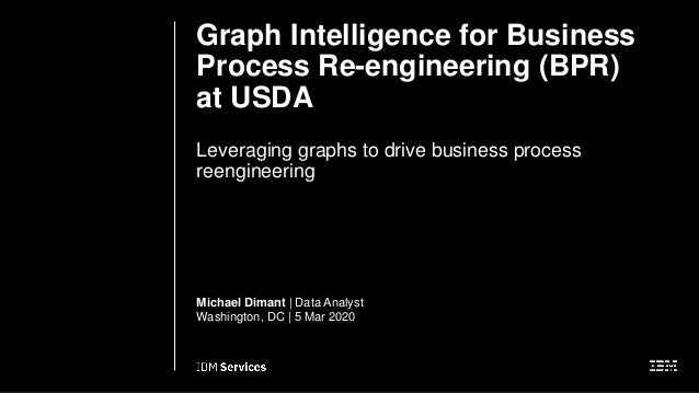 Graph Intelligence for Business Process Re-engineering (BPR) at USDA Leveraging graphs to drive business process reenginee...
