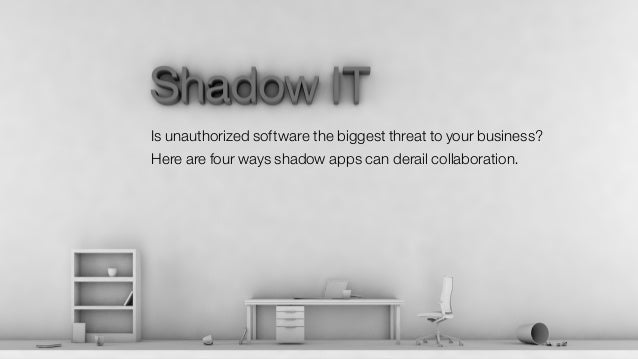 Is unauthorized software the biggest threat to your business? Here are four ways shadow apps can derail collaboration.