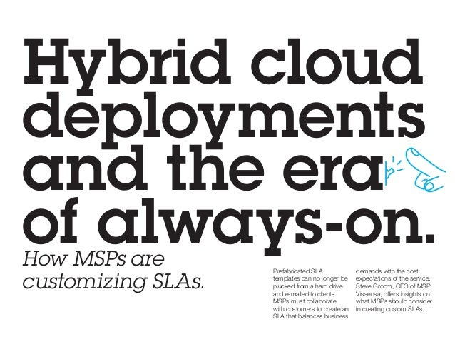 the new msp service level agreement sla playbook 2